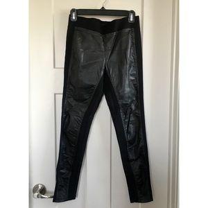 Ann Taylor front pleather leggings